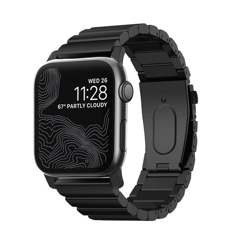 Steel Band for Apple Watch 42/44mm - Black hardware