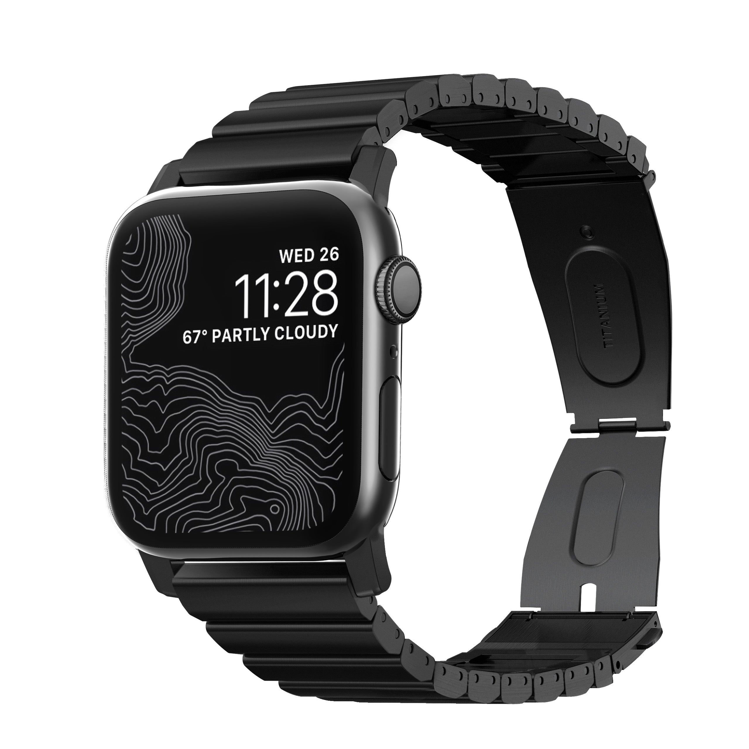 Titanium Band for Apple Watch 42/44mm - Black hardware