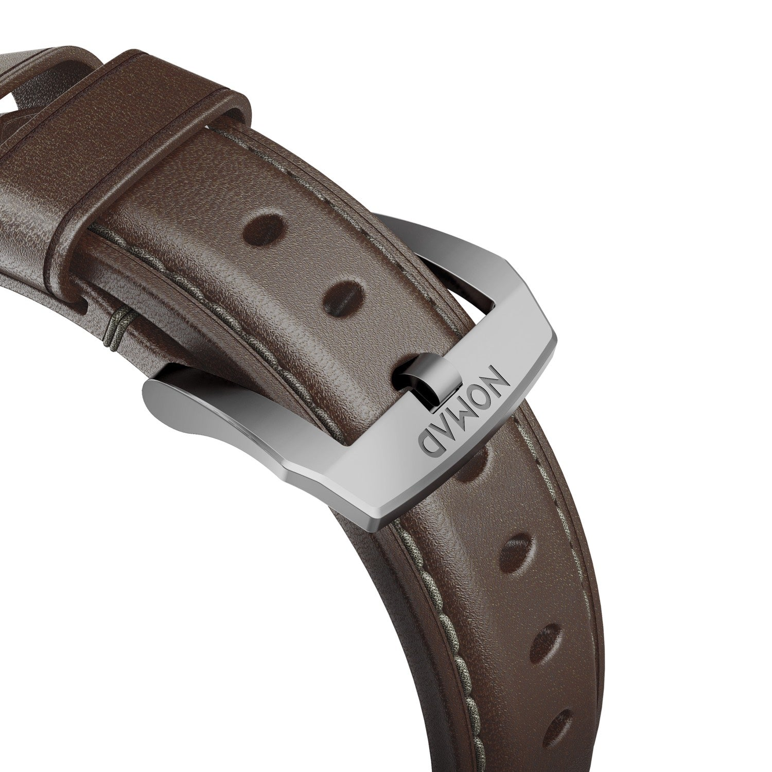 Traditional Strap for Apple Watch 42/44mm - Rustic Brown Silver Hardware