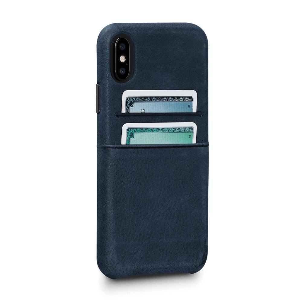 Bence Snap On Wallet for iPhone X/XS - Denim Blue