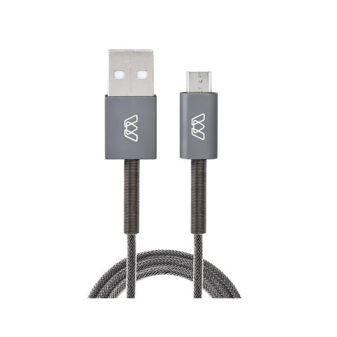 Micro USB Spring Cable, 6 ft/182cm