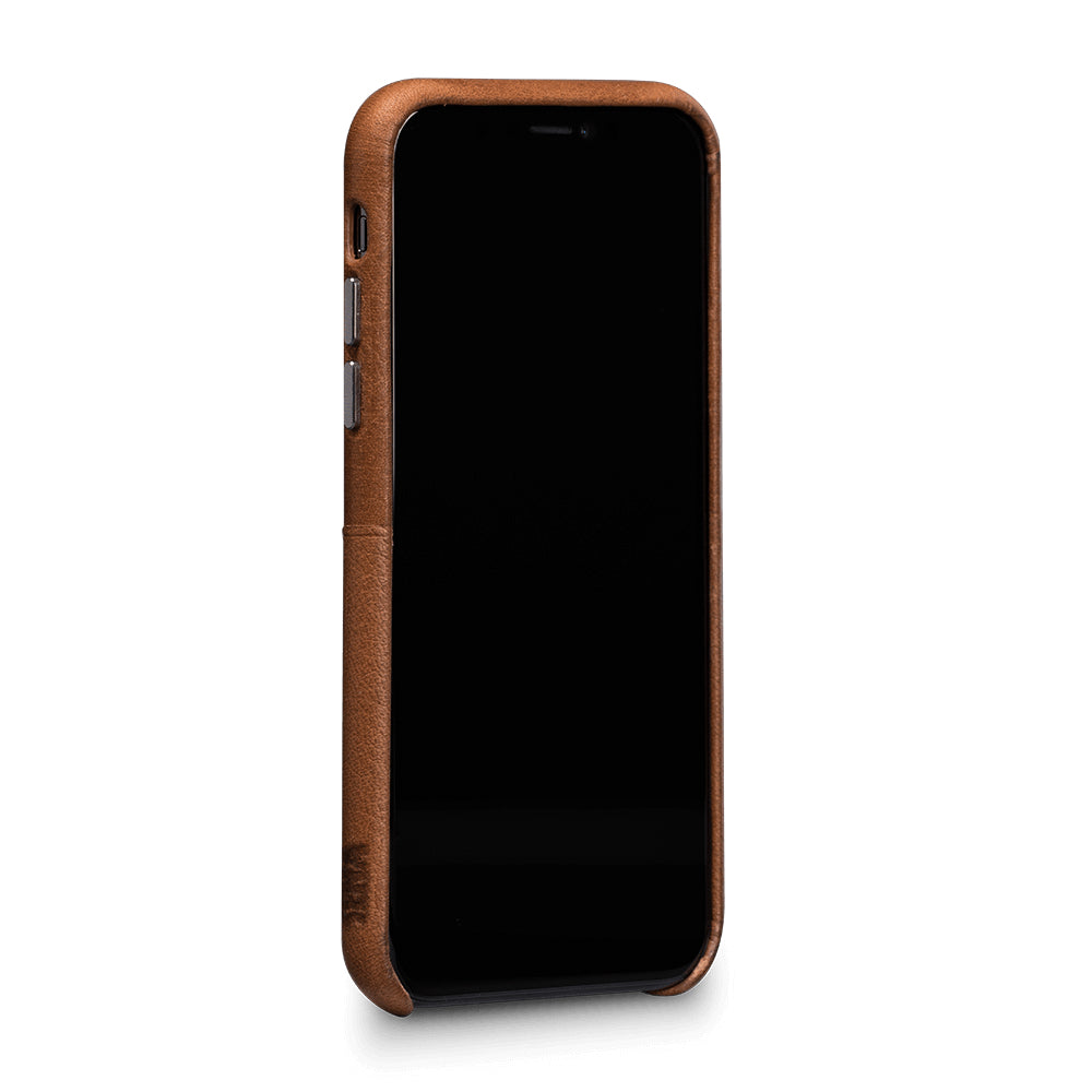 Bence Snap On Wallet for iPhone X/XS - Saddle Brown