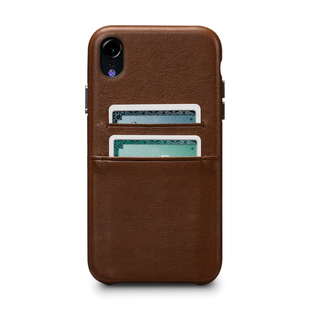 Deen Snap On Wallet for iPhone XR - Saddle Brown