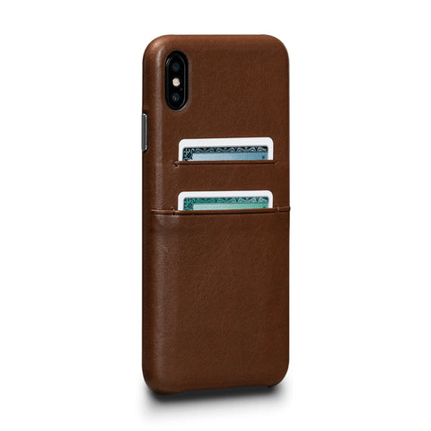 Deen Snap On Wallet for iPhone XS Max - Saddle Brown