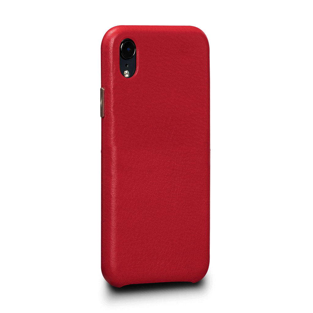 Kyla LeatherSkin Leather Case iPhone XR - Red