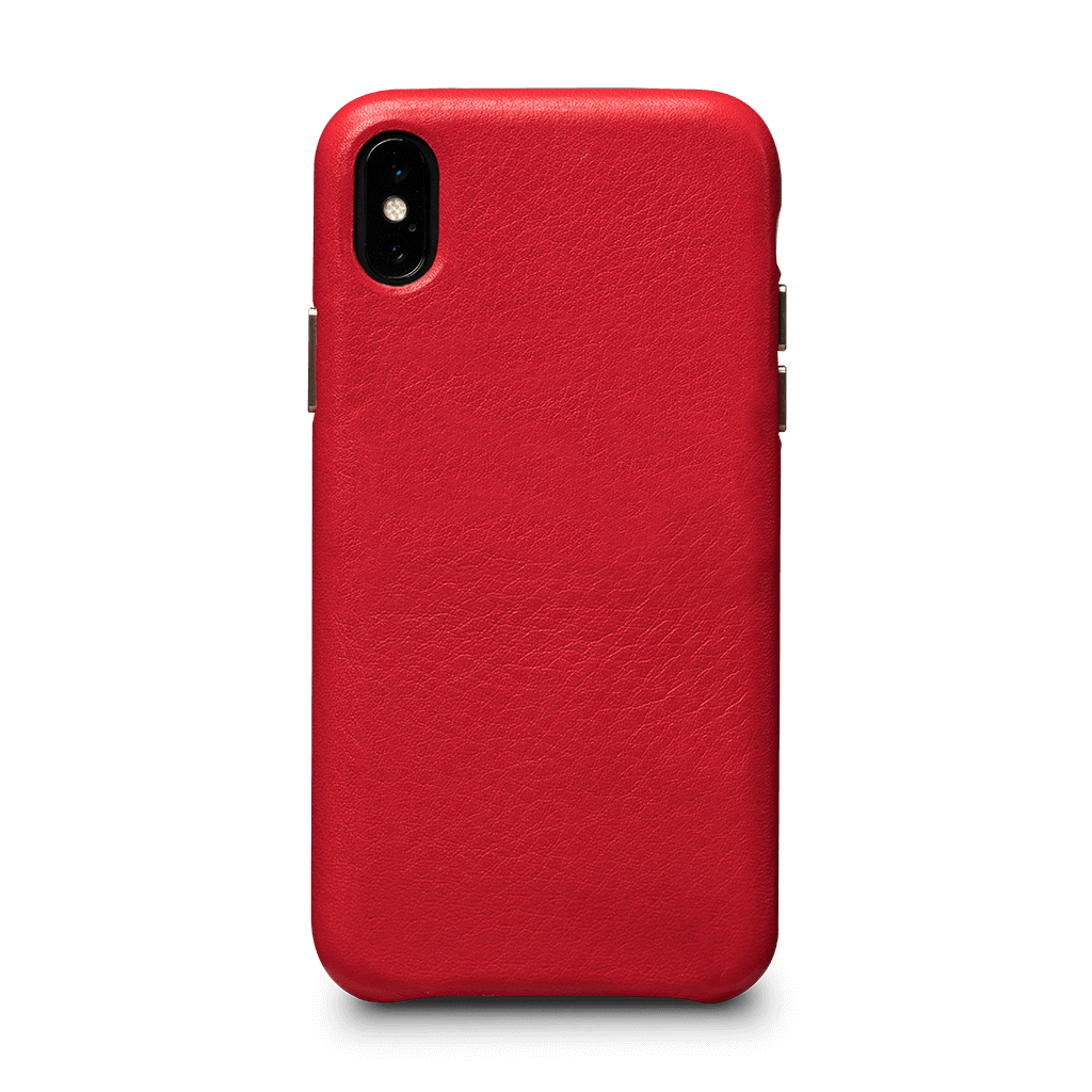 Kyla LeatherSkin Leather Case iPhone XS Max - Red