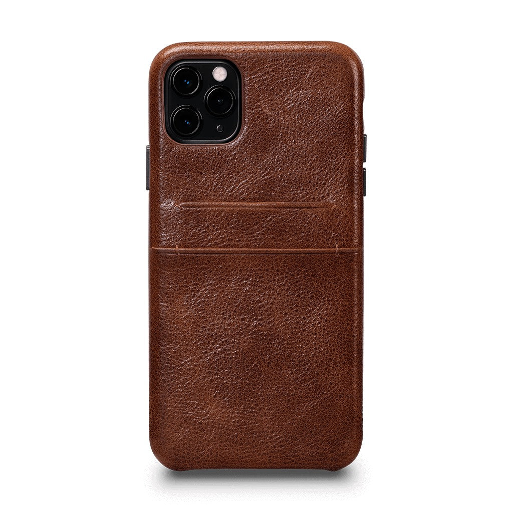 Snap On Wallet Case for iPhone 11 Pro Max - Cognac