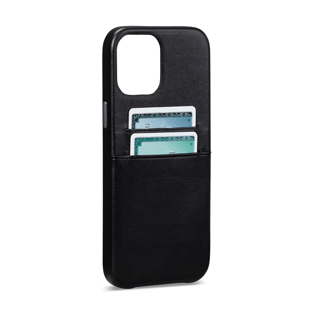 Snap On Wallet Case for iPhone 12 Mini - Black
