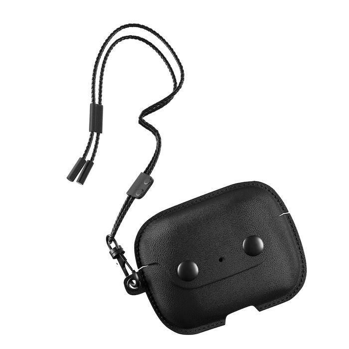 AirCase - AirPods Pro Leather Necklace Case - Black