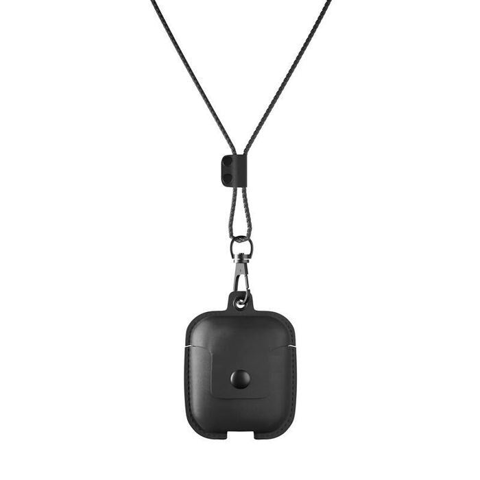 AirCase - AirPods Leather Necklace Case - Black