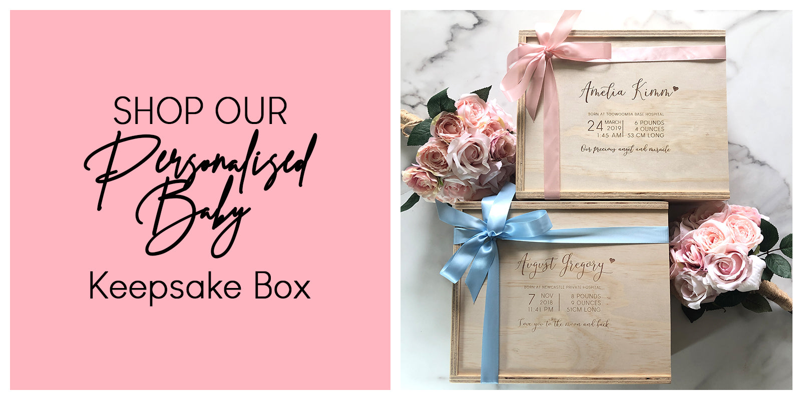 Wooden Keepsake Box Personalised Wooden Memory Box The Love Box Co