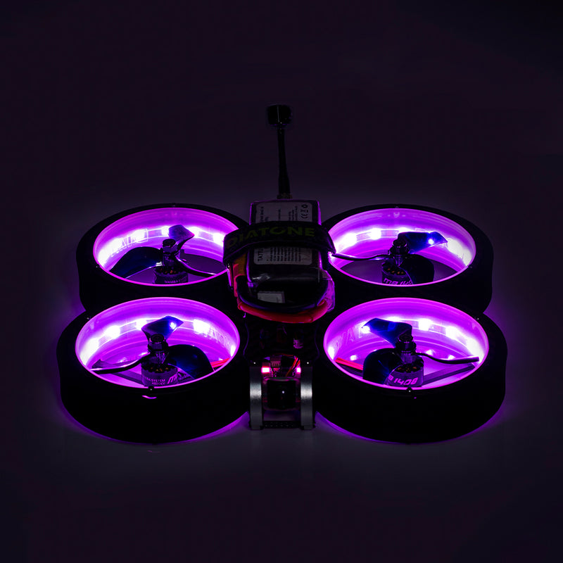 DIATONE MXC Taycan SW2812 LED Duct 3 inch Cinewhoop Freestyle Fpv Drone