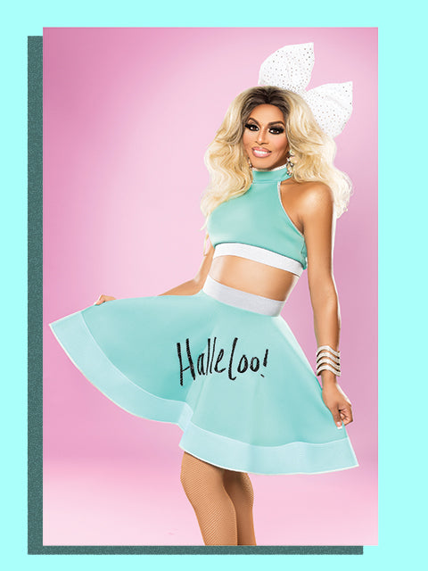 Autographed Halleloo in Blue 11x17 Poster