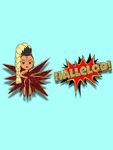 Red for Filth & Halleloo Pin Set