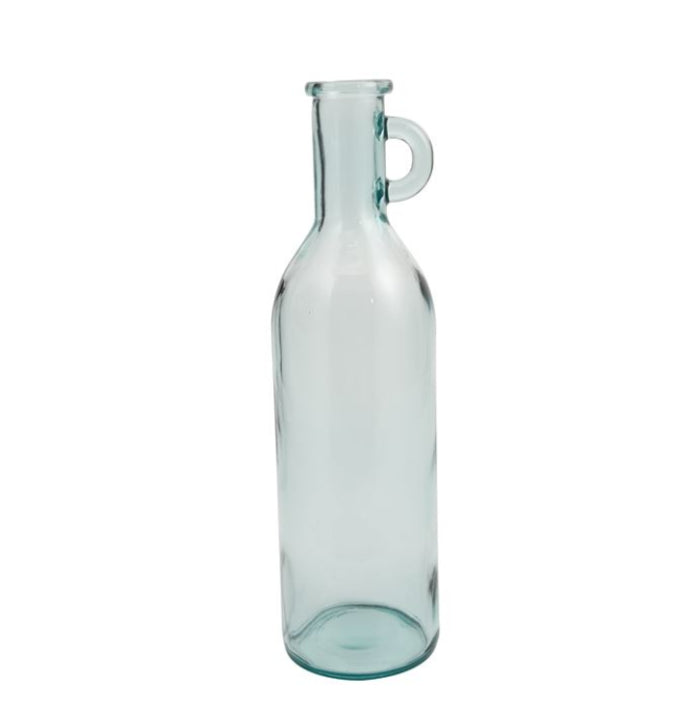 Clear Tall Vase W/Handle