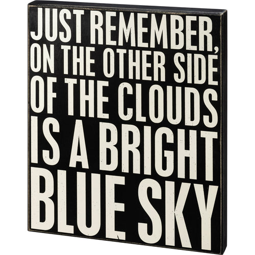 Bright Blue Sky Box Sign