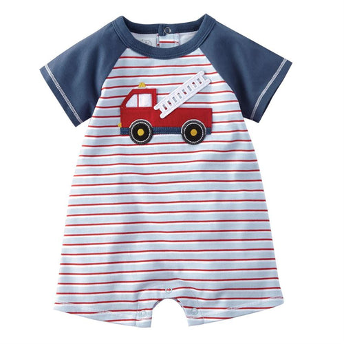 Fire Truck Jersey Striped Shortall