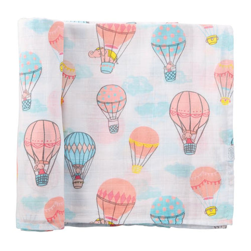 Balloon Muslin Swaddle Blanket