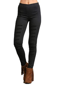 High Waisted Distressed Jeggings