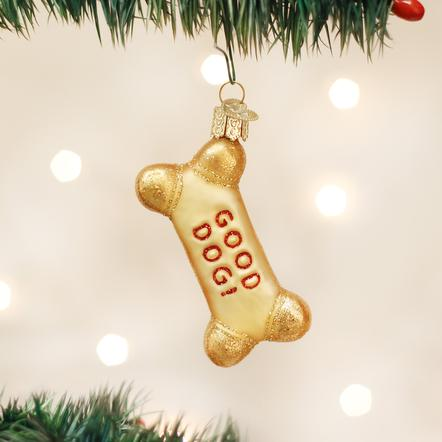 Old World Christmas- Dog Biscuit Ornament