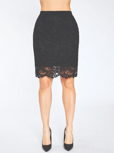 Lace Reversible Mini Skirt