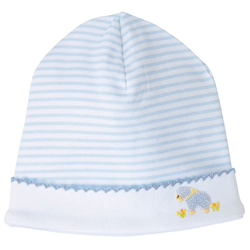 French Knot Blue Lamb Cap