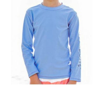 Blue Logo Long Sleeve Rash Guard