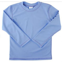 Load image into Gallery viewer, Blue Logo Long Sleeve Rash Guard