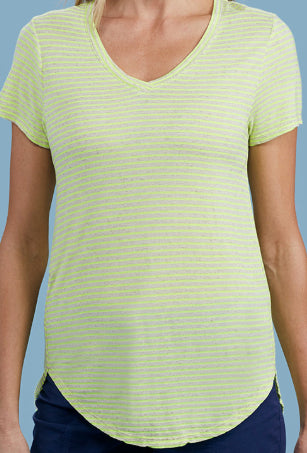 Luminous Stripe Cara Tee