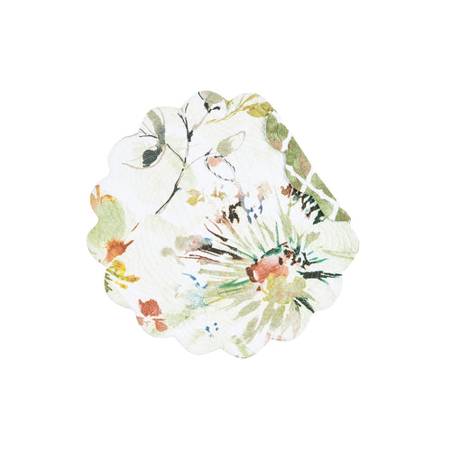 Watercolor Floral Round Placemat