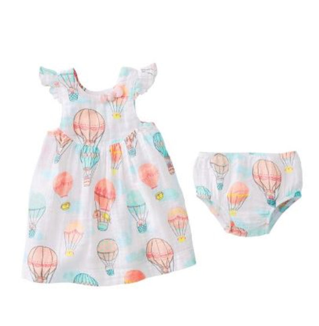 Balloon Muslin Dress