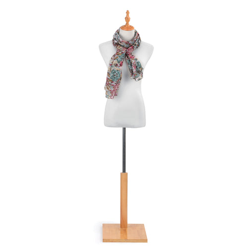 Abstract Floral Rectangle Scarf