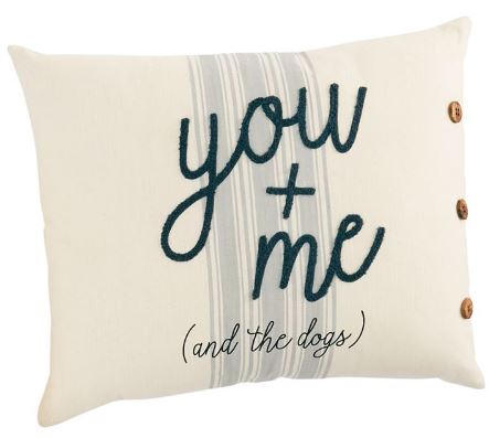 You & Me & The Dogs Pillow