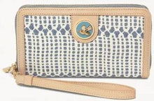 Load image into Gallery viewer, Linen-and-Leather Yacht Club 449 Wallet