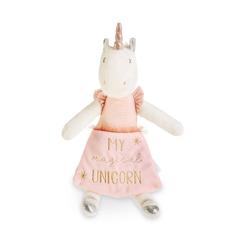 Ivory Plush Unicorn Reading Pal