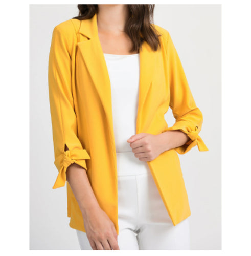 Bright Yellow Bow Sleeve Jacket