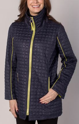 Zip Front Quilted Packable Jacket