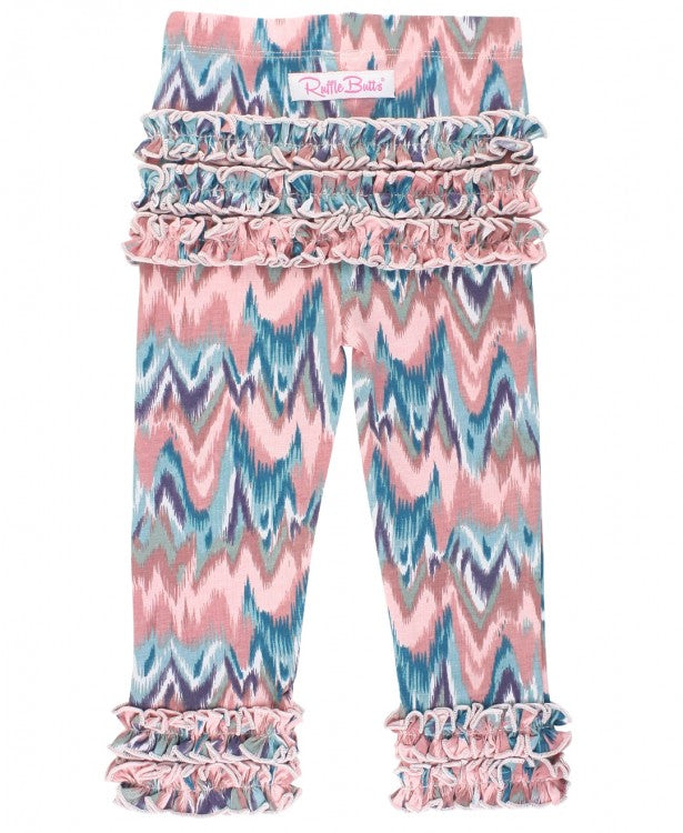 Watercolor Ruffle Legging