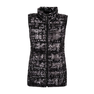 Play with Letters Long Puffer Vest