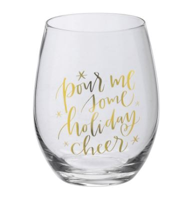 Wine Glass - Pour Me Some Holiday Cheer