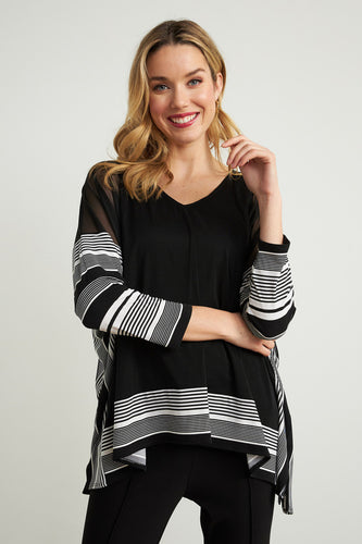 Striped Trim Tunic