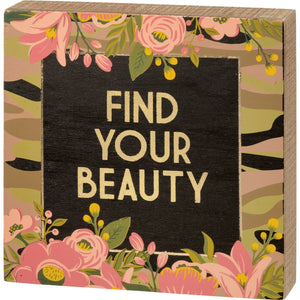 Find Your Beauty Box Sign