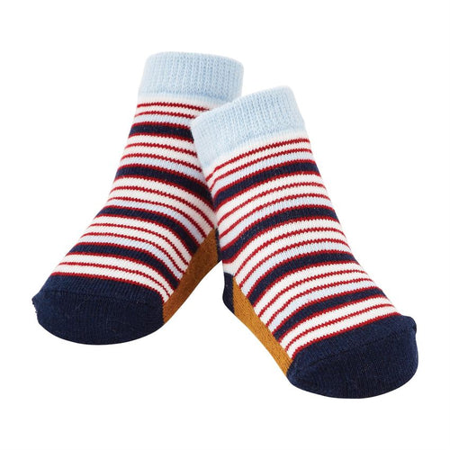 Blue and Red Stripe Socks
