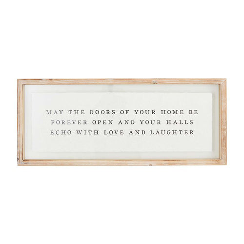 May the Doors Frame Plaque