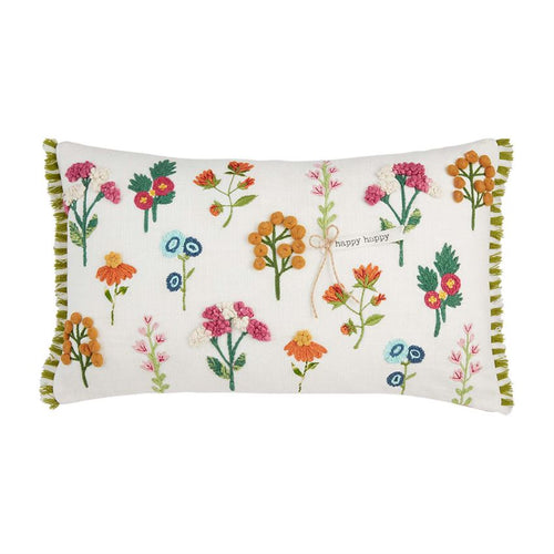 Flower Pattern Lumbar Pillow