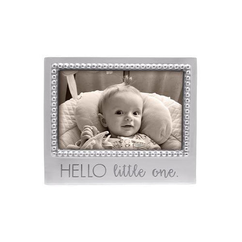 HELLO LITTLE ONE Beaded 4x6 Frame