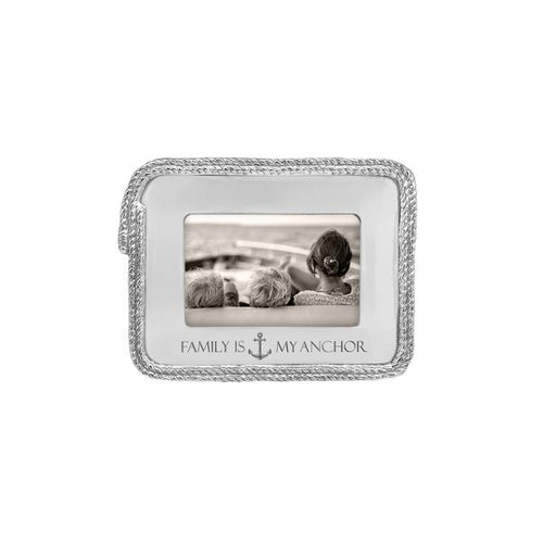 Family is my anchor Rope 4x6 Statement Frame