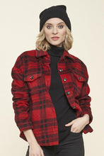 Load image into Gallery viewer, Black & Red Plaid Jacket
