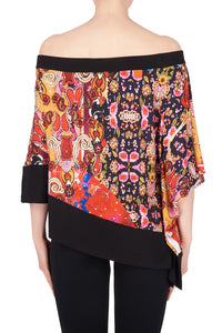 Vivid Color Off Shoulder Bias Hem Top