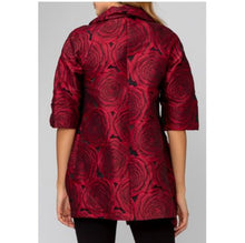 Load image into Gallery viewer, Red Ruffle Rose Coat